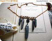 The Black Witch. Black Rough Raw crystal Spikes gypsy boho witchy Dark Margic neck art necklace ooak