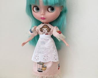 Dolly Dingle Dress and Apron for Blythe