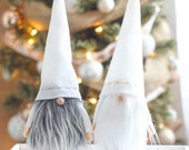 Christmas Gnome, Nordic gnome, Gandalf the wizard, White Gnome, White Christmas, Christmas decor, Gifts for him, Lord of the rings, wizard
