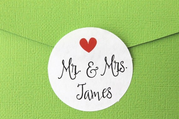 Personalized Wedding Stickers, Wedding Favor Stickers, Wedding Invitation Stickers