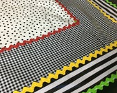big square tablecloth reserved for Karen