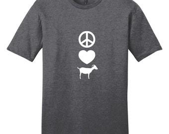 Peace Love Goats - Funny Farm Animal T-Shirt