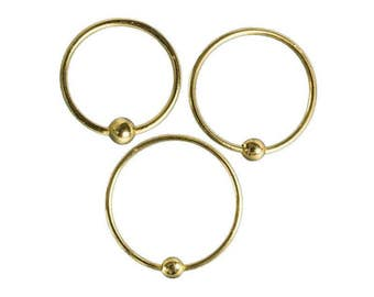 18K Gold Plated Nose Ring, Cartilage earrings, Tragus piercing, Nose piercing, Tribal jewellery, Nose jewellery, Piercing