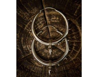 Hoop earrings, Tribal Warrior Silver Hoops, Tribal earrings, Gypsy earrings, Ethnic earrings, Ethnic jewelry, Indian hoop earrings, Tribu