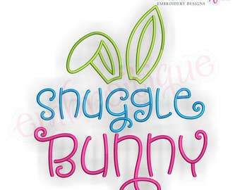 Snuggle Bunny - Cute Easter Design -Instant Download Machine Embroidery Design