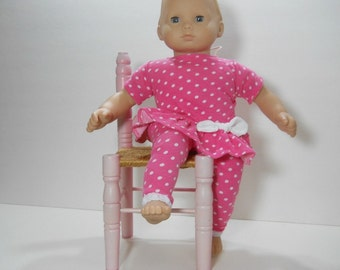 15 inch doll clothes made to fit dolls such as Bitty Baby, Pink Dot Top and Leggings, 10-1443