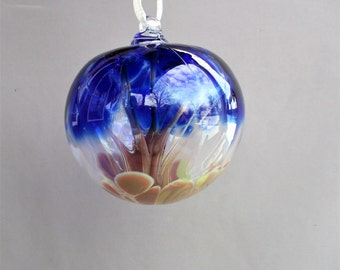 Hand Blown Glass Witch Ball/Ornament/Suncatcher,Art Glass - Small Size
