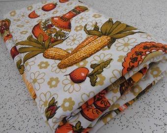 kitchenette...vintage cotton barkcloth fabric yardage