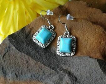 Faux Turquoise Earrings