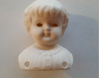Antique Replica Porcelain Doll Bust