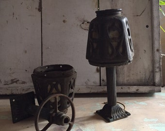 Light fixtures | 1920s| cast iron | arts and crafts era | mission style | pair