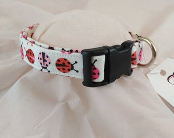 READY TO SHIP Lady Bug Collar