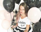 Birthday Girl Shirt Adult {*please read description before ordering}