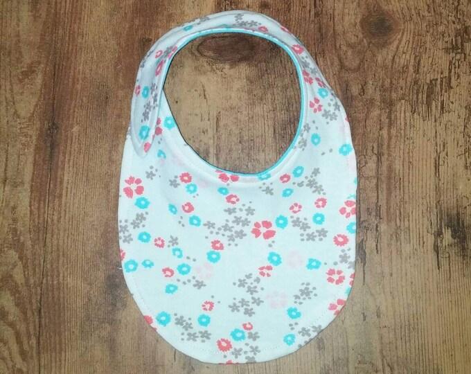 Floral Organic Cotton Baby Bib