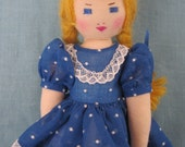 Little Edith Flack Ackley Pattern Doll, Just Nine Inches.