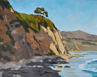 Large Oil Painting - Golden Bluffs 18x24 - Large Landscape Painting by Sharon Schock