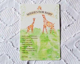 Printable Giraffe Baby Shower Activity - Wishes for Baby