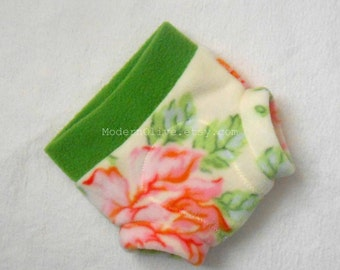 Small Soaker Nicey Jane Hello Roses Cream Micro Fleece Diaper Cover in Pink, Orange, Blue, Sage, Green, Ready to Ship Easter Spring