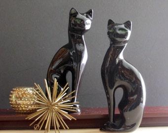 MCM  - ceramic - Siamese Cats - Ceramic Pair Statue