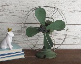 vintage fan - KOLDAIR - industrial decor-mid-century fan - antique
