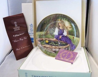 """The Frog King Kaiser West Germany Collectors Plate """"Classic Fairy Tales"""" NEW!"""