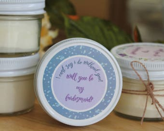 Candle Will You Be My Bridesmaid gift, Bridesmaid box, gift custom, Gift for  Maid of Honor, flower girl gift , be my bridesmaid
