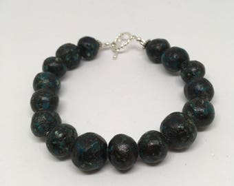 Clay Beaded Bracelet 8in