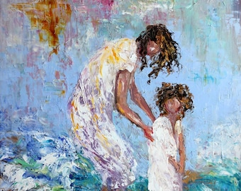 Mother and Child Fine Art Print made from image of oil painting by Karen Tarlton