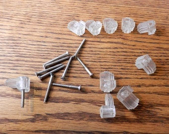 vintage mirror clips with screw 10 pc