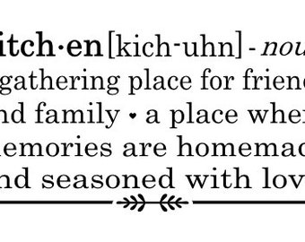 kitchen wall decal definition a gathering place
