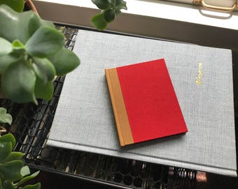 Colorblock // Small Hardcover Book // Red & Maroon
