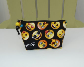 Cosmetic Case, Make up Bag, Cell Phone Case, Gadget Case, Emojis
