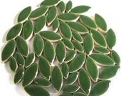"Green Ceramic Petal Leaves 1/2"" & 3/4"" Mix//Mosaic Supplies//Mosaic Pieces//Crafts//Mosaic Tiles"