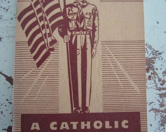 1955 Vintage Booklet A Catholic Manual For Scouts Illustrated Boy Scout Manual