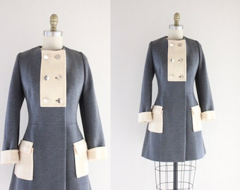 S A L E 1960's Lilli Ann French Knits Gray Wool Coat Jacket