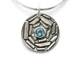 Aquamarine Pendant Necklace, March Birthstone, Aquamarine Necklace, Aquamarine Jewelry, Pisces Jewelry, March Jewelry, Birthstone Necklace