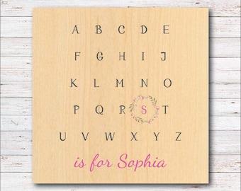 Alphabet, Nursery, Nursery Wall Art,  Home Decor, Wall Decor, Baby's Name, Baby's Room,  Farmhouse, Barn, Woodwork, Toddler, Child