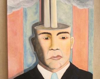 Portrait Paintings of Men, Male Portraiture, Wil Shepherd Studio, Original Fine Art, Gallery Wrapped Canvas, Pollution, Political Art