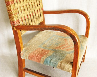 Vintage Wooden Childs Chair, Mid Century, Seating, Childrens Furniture,  Child Size
