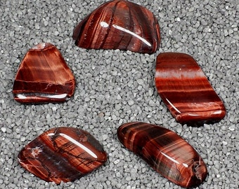 Red Tiger's Eye Tumble Polished Crystal Stone, 1 pc, Sizes 1.1 to 1.5 Inch, TS825