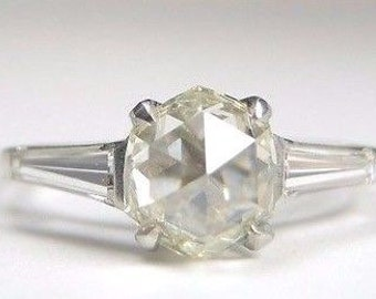 Antique Harry Winston Diamond Platinum Engagement Ring | RE-929