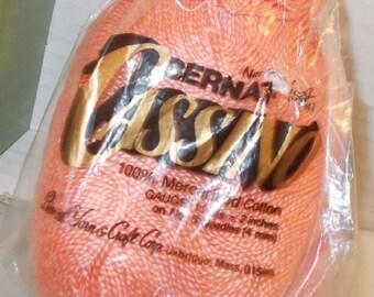 Peach Bernat Cassino Mercerized Cotton yarn