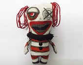 Evil Clown Horror Doll Voodoo Dolls Soft Art Sculpture Fabric Art Dolls