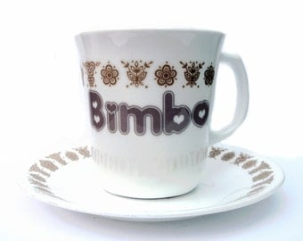 SALE - Bimbo Altered Retro Coffee Mug