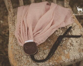 Mauve Stretch Scarf Camera Strap