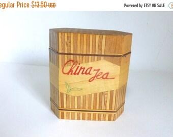 Vintage 1970's China Tea Inlaid Wood Box