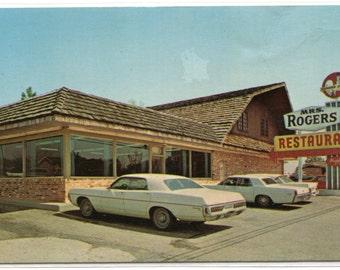 Mrs Rogers Restaurant Cars Claxton Georgia Roadside America postcard