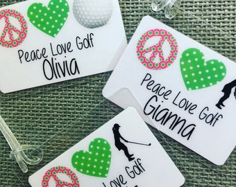 Golf Gift, Personalized Golf Gift, Kids Bag Tag, Golf Bag Tag, Golf Tag, Personalized Golf Bag Tag, Girl Golf Gift, Sports Bag Tag, Golf Tag