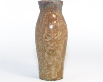 OOAK Earthtones and Golden Hues Crystalline Glaze vase