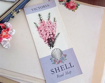 Vintage Shell Australia Road Map Of Victoria 1959 Beautiful Graphics Collectable Framing